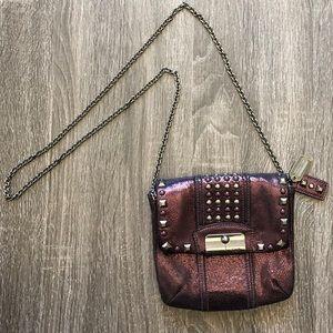 COACH Kristin Leather Studded Crossbody Bag